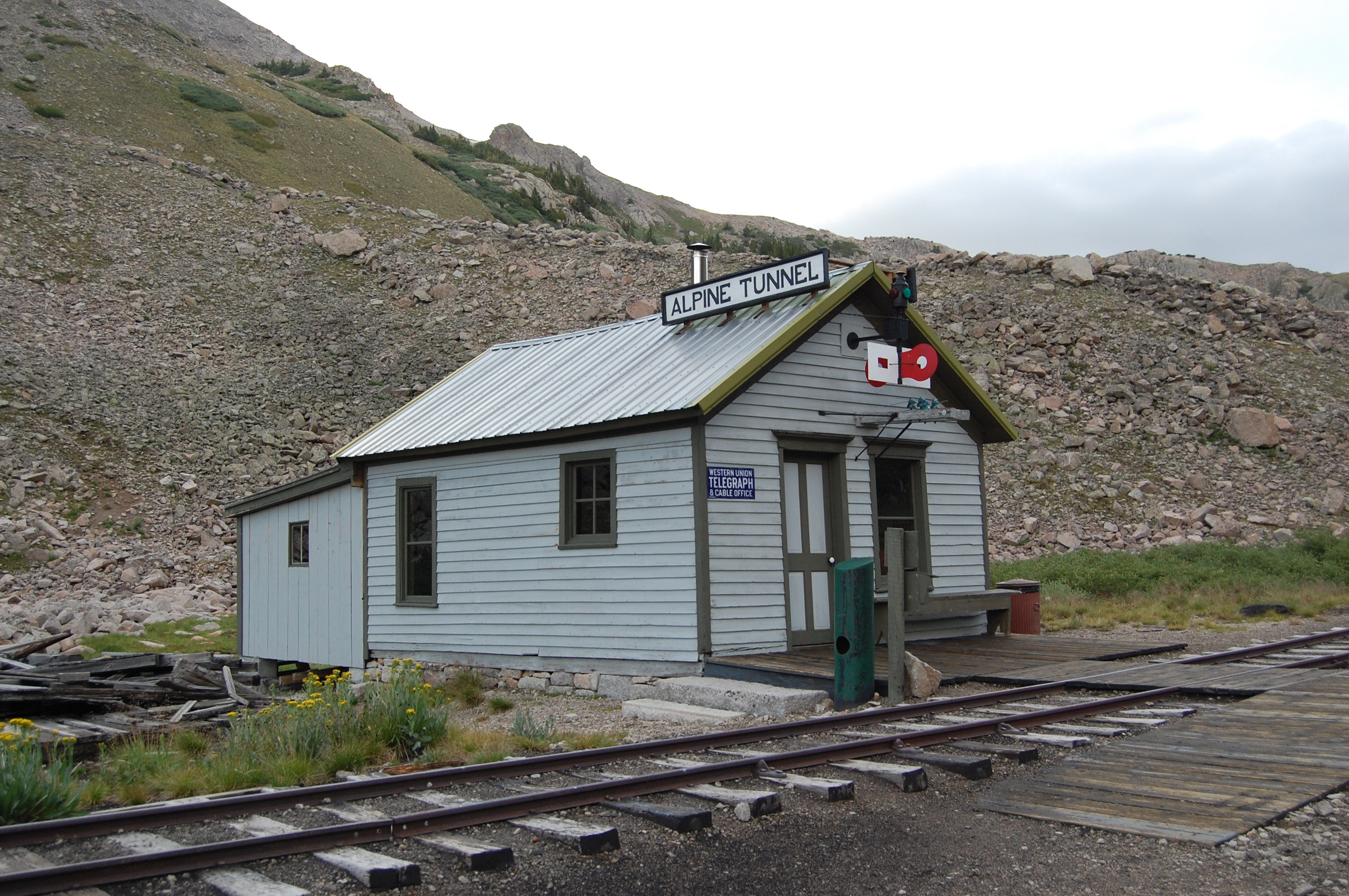 Train Depot at Alpline Tunnel